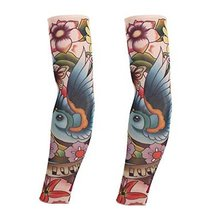PANDA SUPERSTORE 1-Pair Parrot Temporary Tattoo Sun Sleeves Body Art Arm Covers