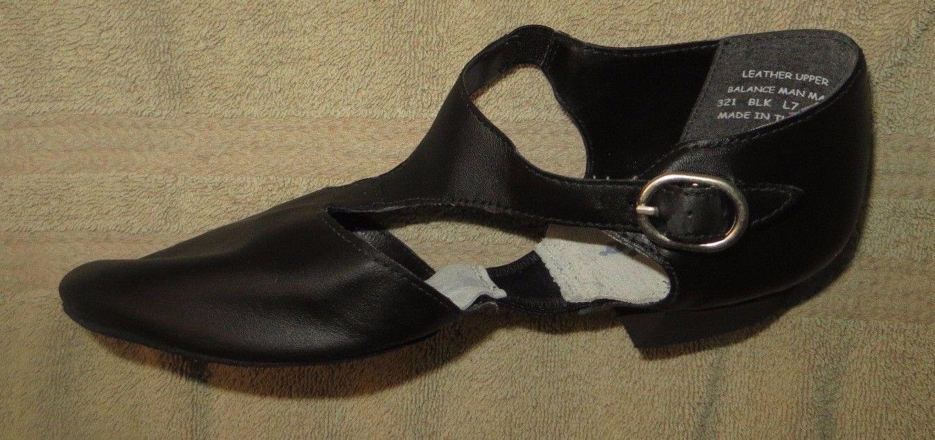 Capezio 321 Pedini Leather Black Greek Sandals Lyrical Dance Size 4M 4 Medium