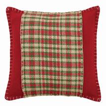 """Claren Applique Pillow - 16""""x16"""" -VHC Brands- Farmhouse Country Christmas"""