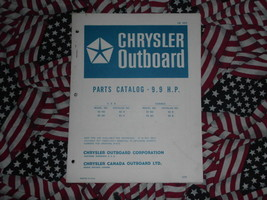 1971 Chrysler Outboard 9.9 HP Parts Catalog - $19.79