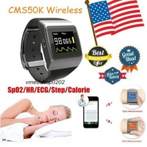 US Seller Wrist SpO2/ECG Heart Rate Monitor,Pedometer,Calorie Watch Reco... - $147.51