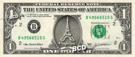 PRAY FOR PARIS Eiffle Tower on REAL Dollar Bill Cash Money Bank Note Cur... - $4.44