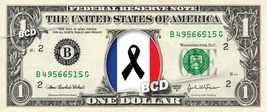 PARIS FLAG PEACE on REAL Dollar Bill Cash Money Bank Note Currency Celeb... - $6.66