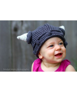Crocheted Baby Viking Hat 0-6 mo - $20.99