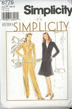 Simplicity 8775 Retro Misses Jacket, Skirt, Pants - Size 6,8,10 UNCUT image 1