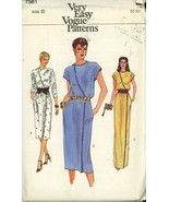 Vogue 7581 Misses Front Wrapped Evening Dress or Street Length Size 8 UN... - $2.00