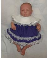 Preemie & Newborn Girls Purple Cotton Lace Dress and Diaper Cover  - $30.00
