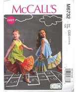 McCalls M6732 Pullover Top and Pants with Ruffled Legs, Size 2-3-4-5 UNCUT  - $2.00