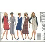 Butterick 6395 Misses Easy Jumper Dress Size XS, S, M  UNCUT - $2.00
