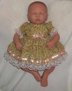 Preemie & Newborn Girl's Sunshine Dress and Bloomers