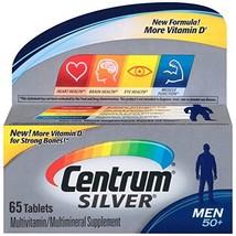 Centrum Silver Men 50+ Multivitamin Tablets 65 ea Pack of 3