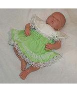 Preemie & Newborn Girls Mint Cotton Lace Dress and Diaper Cover  - $30.00