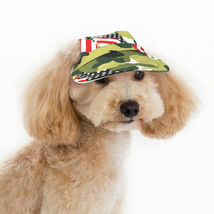 Patriotic Camouflage Canvas Dog Hat Visor Pet Baseball Cap Medium or Lar... - $11.95+