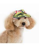 Patriotic Camouflage Canvas Dog Hat Visor Pet Baseball Cap Medium or Lar... - £9.08 GBP+
