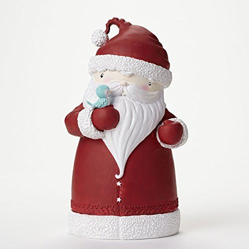 Enesco Stacy Yacula Santa with Bird Figurine, 8.125-Inch [Misc.]