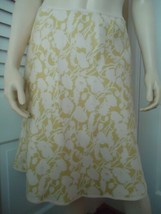 ANN TAYLOR PETITES Skirt 2P Silk A-Line Floral Lined No Waistband Side Z... - $44.52