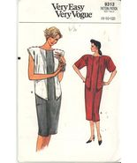 Vogue 9313 Drop Shoulder or Cap Sleeve Dress  Size 8-10-12 UNCUT Very Easy - $2.00
