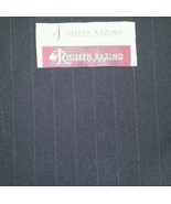 130'S Italian Wool suit fabric 6 Yards Navy Blue with white stripe Free ... - $79.09
