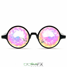 CYBER MONDAY GloFX Black Kaleidoscope Glasses- Rainbow Ravers Light Diffracting - $31.99