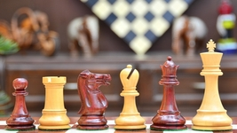 "The Abaco Barb Staunton Series Chess Set in Bud Rose & Box wood-4.4"" King S1275 - $336.99"