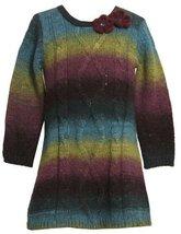 Bonnie Jean Little Girls' Ombre Sweater Knit Dress, Blue, 3T [Apparel]