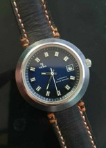 Very Rare Man's YEMA Sous Marine Automatic Vintage French Diver 70's Watch  - $373.65