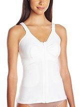 Amoena Women's Hannah Post-Surgery Front Close Camisole, White, MEDIUM C/D - $61.34