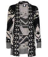 SugerDiva Skull Print Open Knitted Cardigan - $16.99