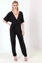 New Womens Kimono tie waist wide leg jumpsuit Size 6-14 UK - $9.28