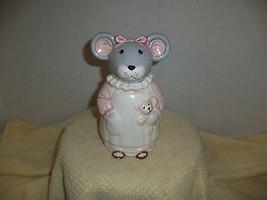 Vintage Fabrique En Coree Mouse Bank - $9.99