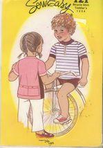 SewEasy 121 toddler Bicycle Shirt - Size 1-2-3-4 UNCUT - $5.50