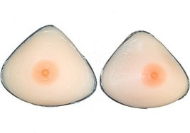 Triangle Full Silicone Breast Form Mastetomy cross dress size 7(XL) 34DD... - $41.65