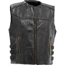 Diamond Plate™ Italian Stone™ Design Genuine Buffalo Leather Vest  - $49.95