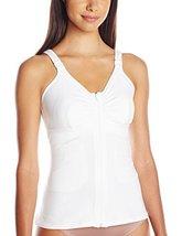 Amoena Women's Hannah Post-Surgery Front Close Camisole, White, 4X C/D - $61.34