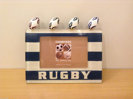 NEW Tinted Resin Horizontal Rugby Table Photo Frame 4x6 by Amscan