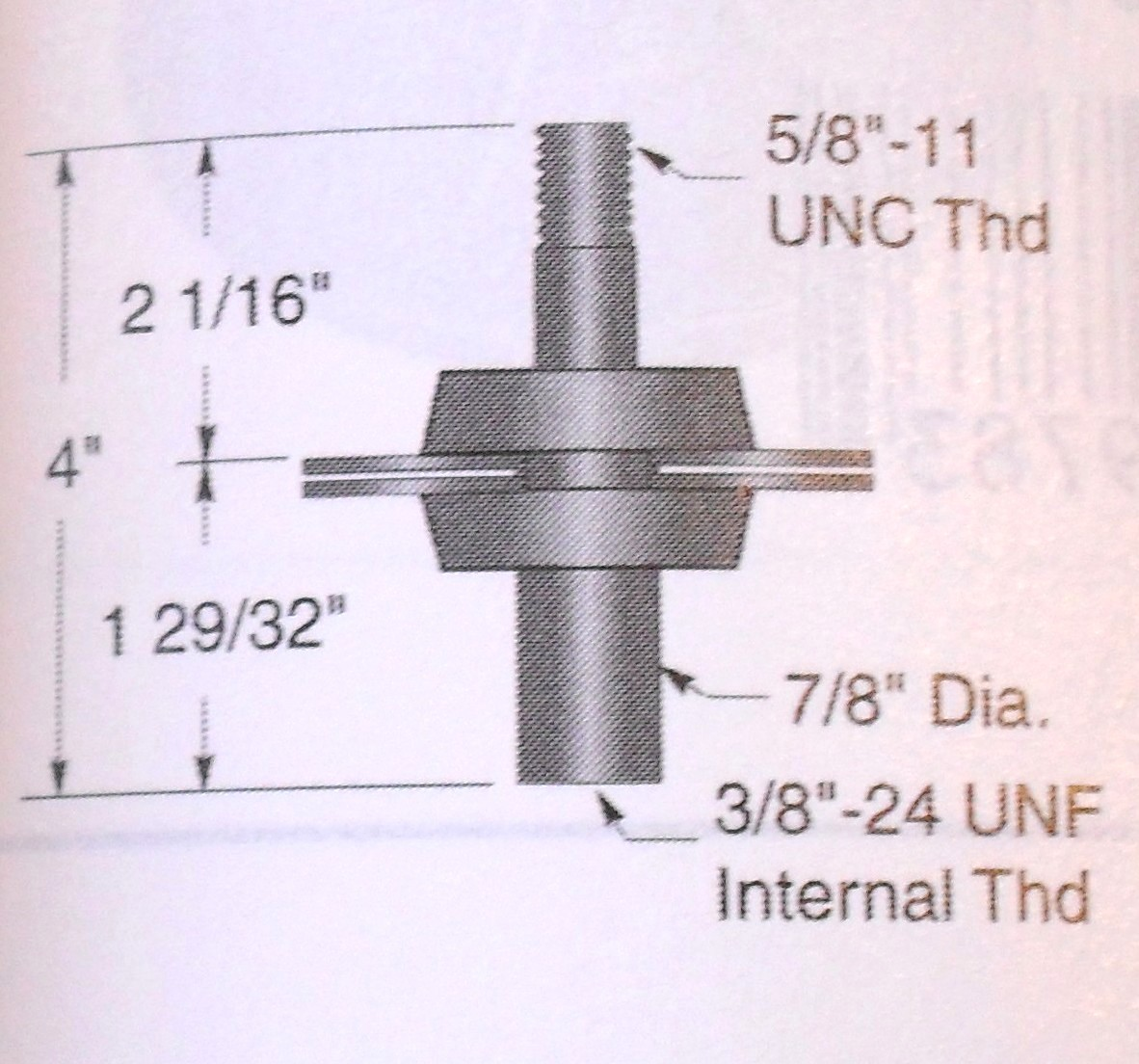"""Deck spindle for MTD 38"""" cut lawn mower 09321"""