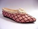 Truffles Pink Red Slipper Post French Revolution Rosettes Just the Right Shoe