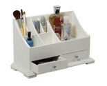 Makeup caddy bathroom countertop white thumb155 crop