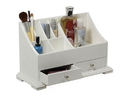 Makeup caddy bathroom countertop white thumb200