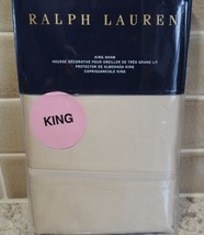 POLO RALPH LAUREN BEDFORD SATEEN 800 THREAD ONE KING SHAM NEW  $185 Esse... - $55.94