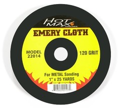 Hot Max 22014 Abrasive Emery Cloth with 120 Grit, 1-Inch by 25 Yards - $21.35