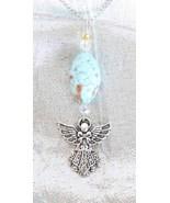 Enchanting Judy Strobel  Art Glass Angel Pendant Necklace - $19.00
