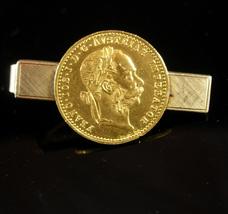 Antique 22kt gold Coin Tie Clip Austrian Ducat  Anson 12Kt GF  Numismati... - $375.00