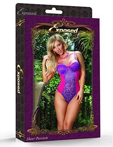 ENVY BODY SHOP Women Magic Silk Sheer Passion Teddy (M) - $58.75