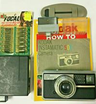Kodak Instamatic 500 Camera Schneider Xenar 38mm f/2.8  + Accessories + ... - $19.34