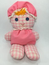 FISHER PRICE 420 LOLLY RATTLE DOLL PINK GINGHAM... - $49.99