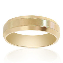 6.5mm 14K Yellow Gold Comfort Fit Satin Finish Band - $563.31