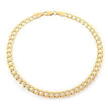 14k Yellow Gold Curb Chain Ankle Bracelet - $662.31