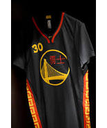 Stephen Curry China New Year Short Sleeve Replica Jersey