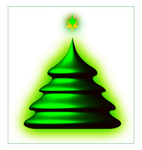 *CHRISTMAS TREE_GREEN* Digital Art JPEG Image Download - $2.95
